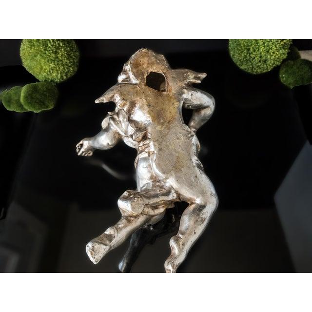 Ornamental & Decorative Materials Antique Cherub Silver Leaf Wall Sculpture For Sale - Image 7 of 8
