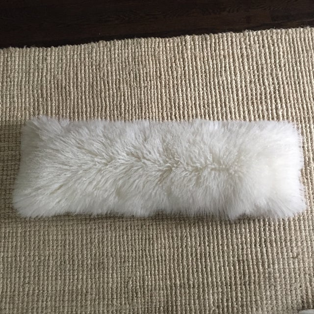 Mongolian Fur Lumbar Pillow - Image 3 of 7