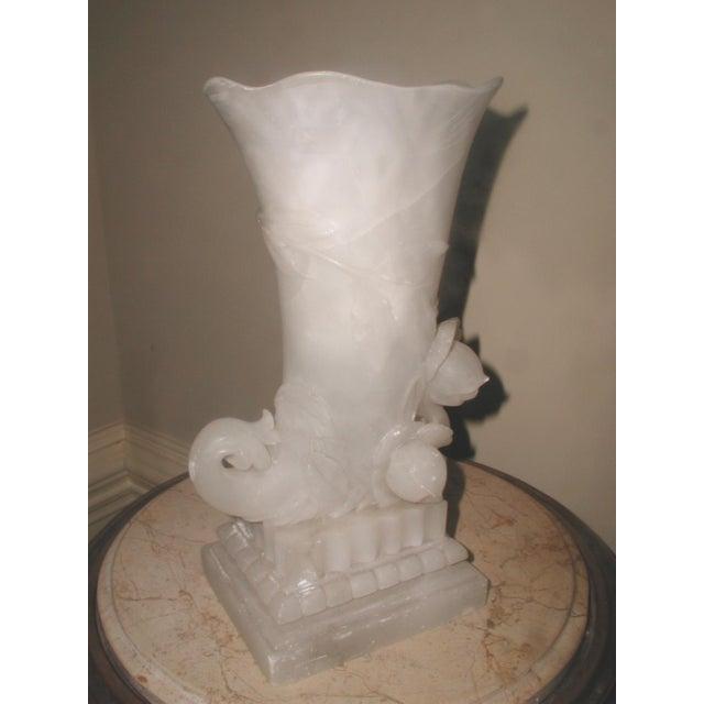 Alabaster Cornucopia Vase C.1900 - Image 10 of 10