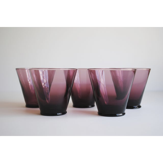 Amethyst Cordial Glasses, Set of 5 - Image 2 of 5
