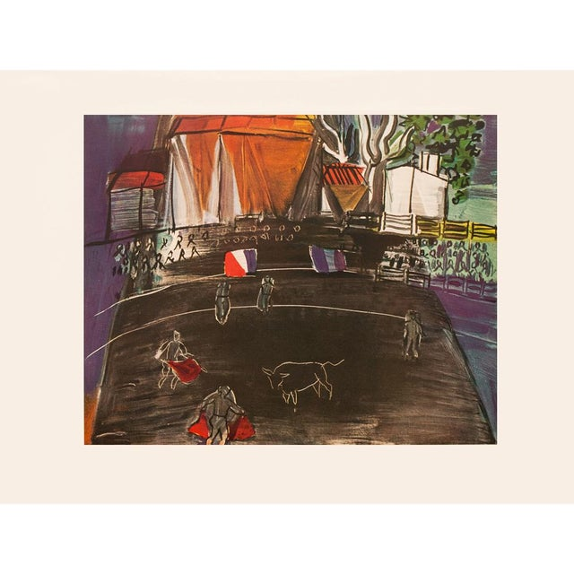 """Charcoal 1954 Raoul Dufy """"Bullfight"""", First Edition Lithograph For Sale - Image 8 of 8"""