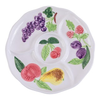 Round Madcap Cottage Italian Fruit-Themed Serving Tray For Sale