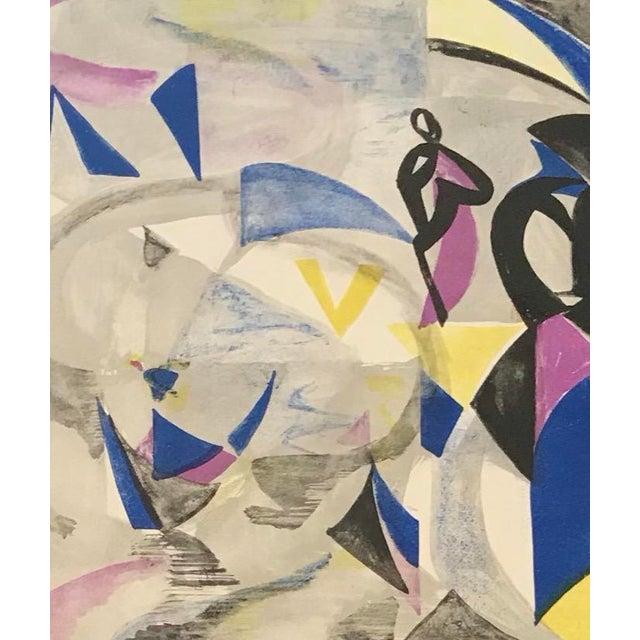 """Helene de Beauvoir (1910-20010) """"Le Gondolier"""". Color lithograph, numbered 141/220."""