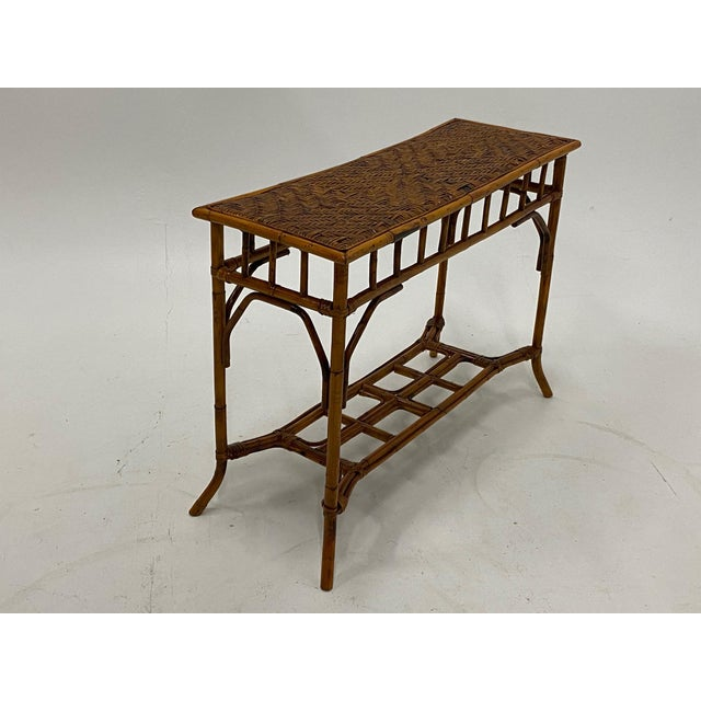 Organic Modern Bamboo and Rattan Console For Sale In Philadelphia - Image 6 of 12