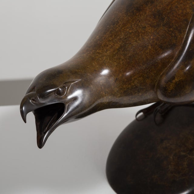 1990s A Bronze Golden Eagle by Geoffrey Dashwood Edition 1 of 12 1999 For Sale - Image 5 of 6