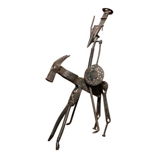 Don Quixote Welded Tool Sculpture For Sale