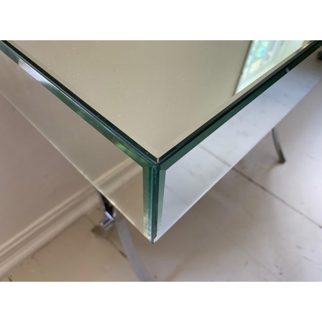 Mercana Small Mirrored Console With Chrome Curule Legs For Sale - Image 4 of 7