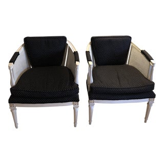 Vintage Kunzelmann Bergere Chairs - a Pair For Sale