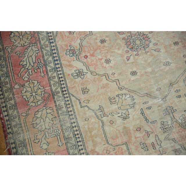 "Antique Kerman Square Rug - 2'11"" X 4' For Sale - Image 10 of 13"