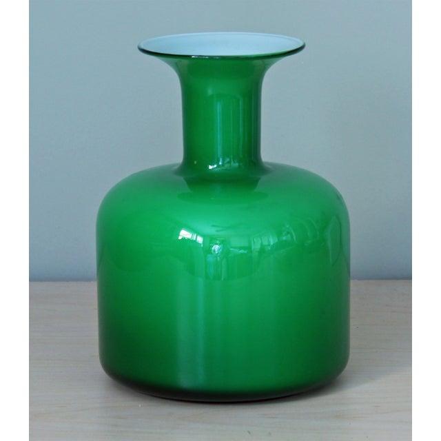 Green Holmegaard Glass Vase - Image 2 of 3