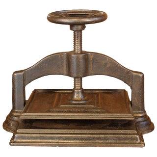 Cast-Iron Book Press For Sale
