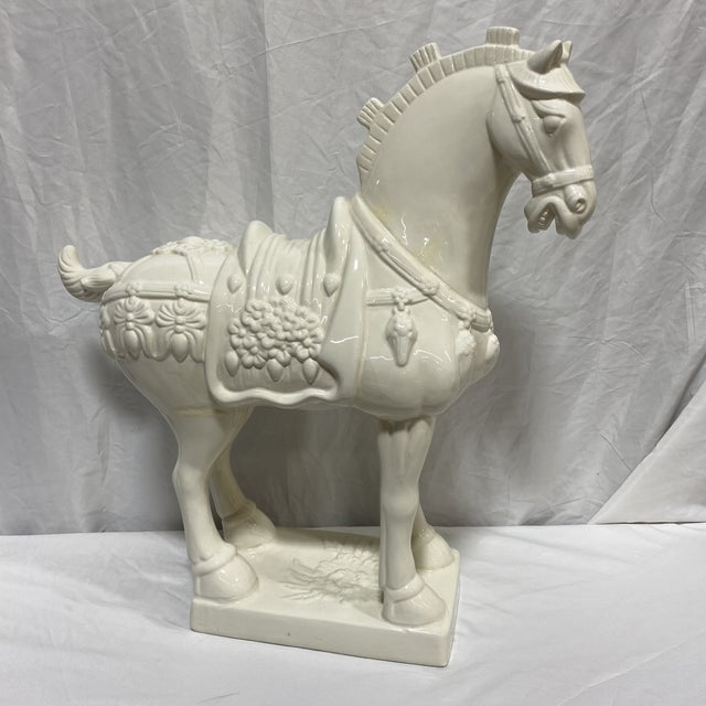 Large Vintage Ceramic Tang Dynasty Horse For Sale - Image 12 of 12