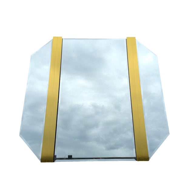 Retro Octagon Beveled Glass Mirror - Image 1 of 9