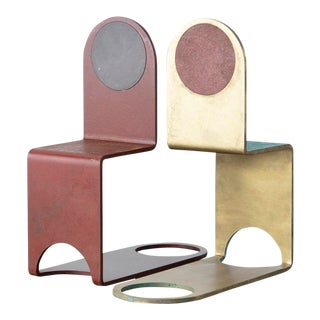 Kin & Company Thin Bookends For Sale