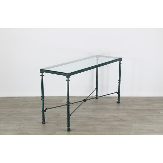 Mid-Century Modern Diego Giacometti Style Iron Console Table, Metal Console Table For Sale - Image 3 of 10