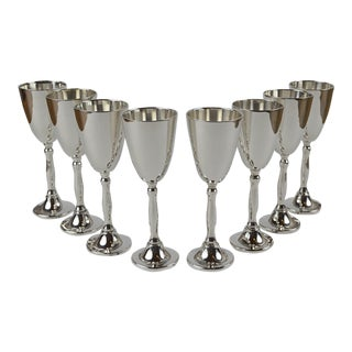 Mexican Sterling Silver Cordials - Set of 8 For Sale