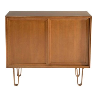 Mid Century Edward Wormley for Dunbar Cabinet on Hairpin Legs For Sale