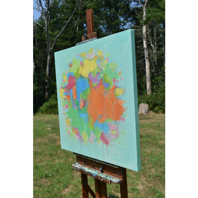 """2010s Modern """"Bouquet- Out of Many, One"""" Abstract Painting by Stephen Remick For Sale - Image 5 of 13"""