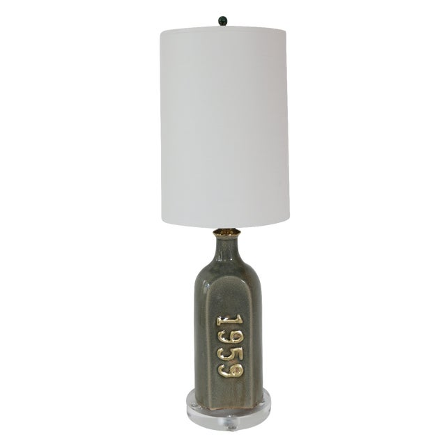 1959 Ceramic Cask Bottle Lamp - Image 1 of 5