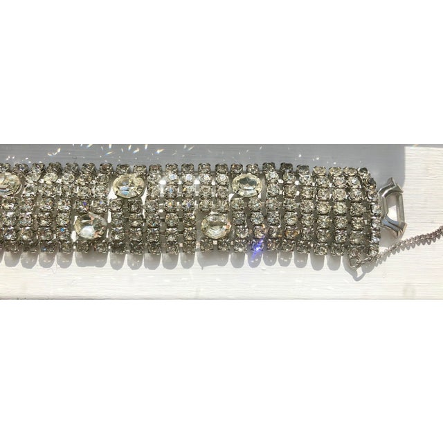 Stunning Weiss Crystal Encrusted Bracelet For Sale In New York - Image 6 of 12