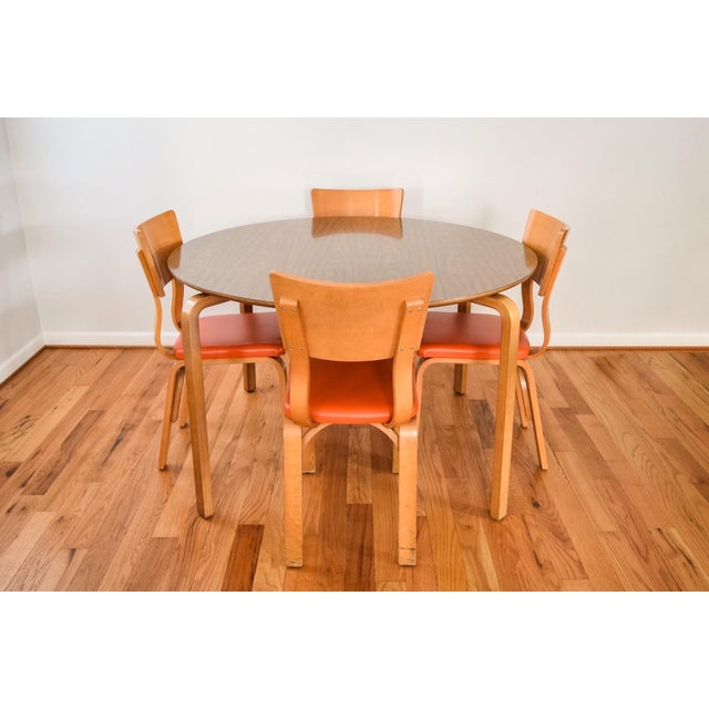 Mid-Century Modern Mid-Century Thonet Bentwood Table & Chairs For Sale - Image 3 of 10