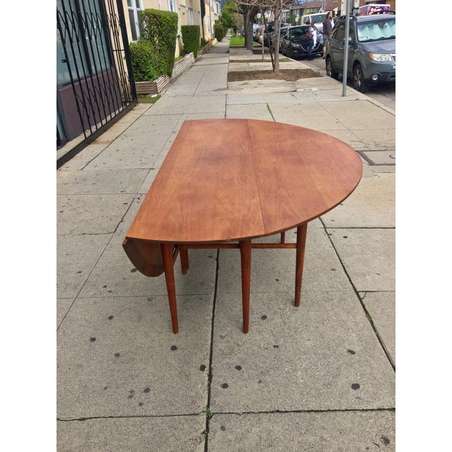 Mid-Century Drop Leaf Dining Table - Image 9 of 10