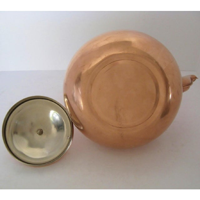 Ceramic Copper & Porcelain Teapot For Sale - Image 7 of 7