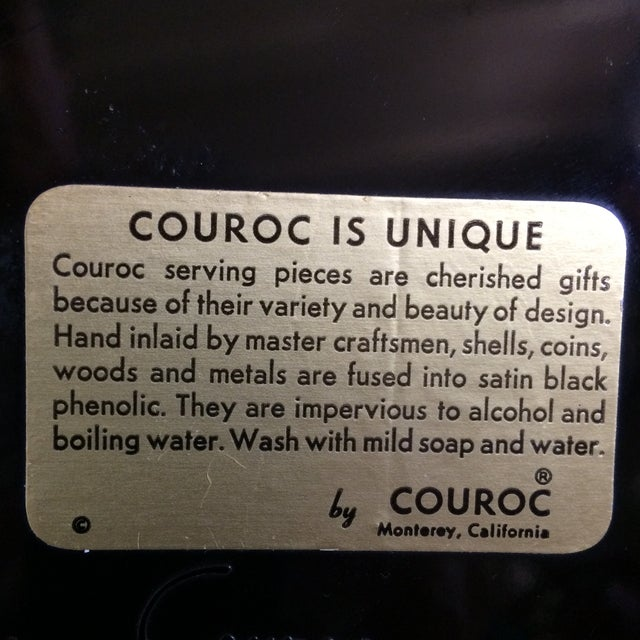 Special Vintage Couroc of Monterey Centennial Weinstocks Serving Tray For Sale In Sacramento - Image 6 of 13