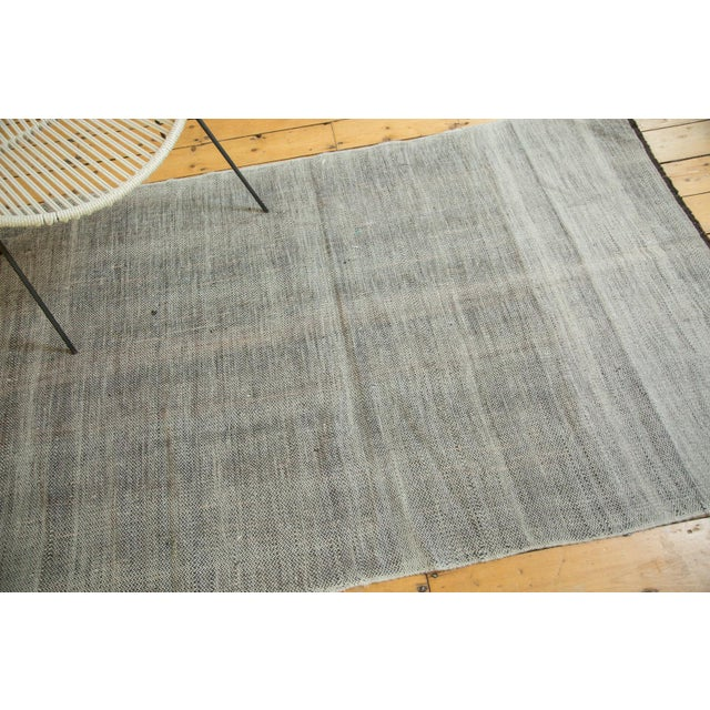 """Vintage Flatwoven Reversible Wool Rug - 4'2"""" X 6'5"""" For Sale In New York - Image 6 of 8"""