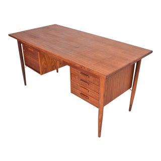 Danish Mid Century Modern Teak Writing Desk Arne Vodder For Sale