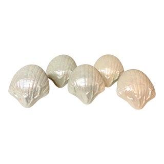 Luster Shell Napkin Holders, S/5 For Sale