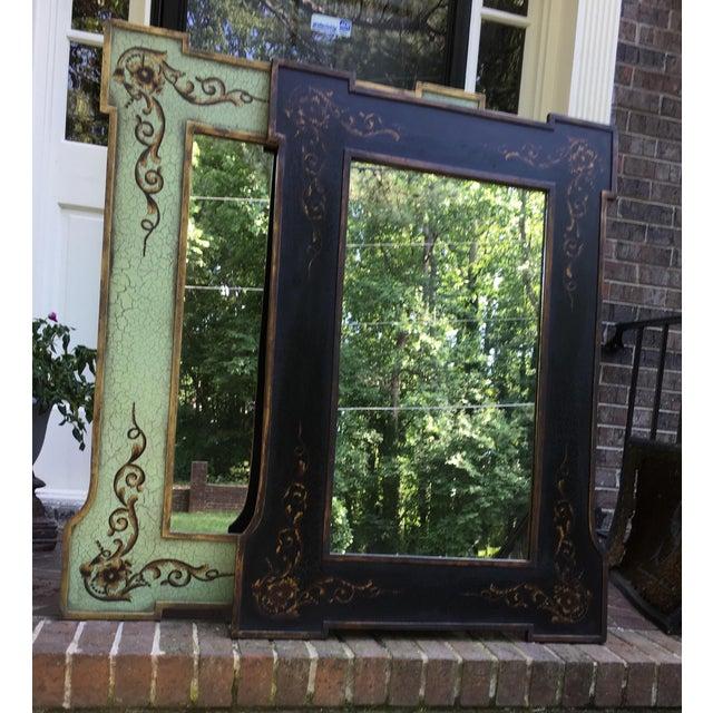 Design Rectangular Black / Green Mirrors For Sale - Image 13 of 13