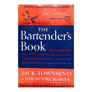 """Jack Townsend """"The Bartender's Book"""" Book For Sale"""