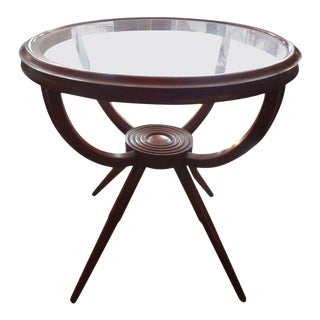 Italian Gio Ponti Inspired Fruitwood Table For Sale
