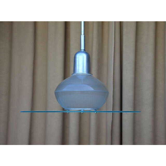 1930s Pair of French Art Deco Hanging Lights For Sale - Image 5 of 10