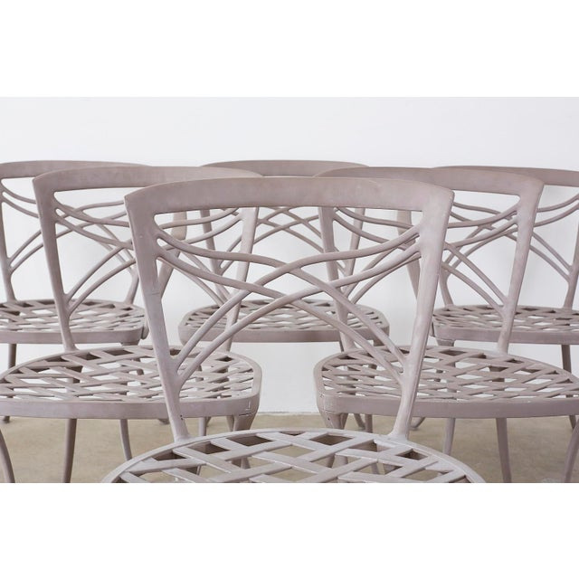 Brown Jordan Neoclassical Garden Dining Chairs - Set of 6 For Sale In San Francisco - Image 6 of 13