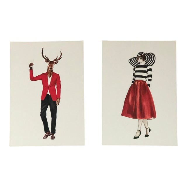 Tres Chic Signed Animal Portraits For Sale