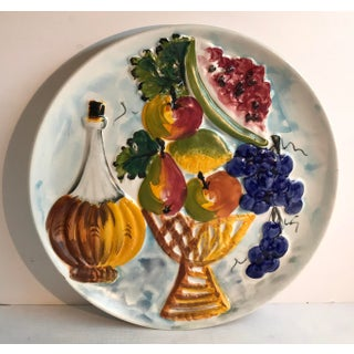 20th Century Italian Hand Painted Fruit and Wine Plate Preview