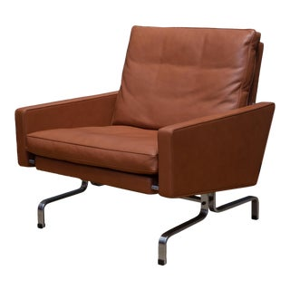 Fritz Hansen Pk31 Leather Lounge Chair C.2017 For Sale