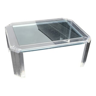 Mid-Century Modern Lucite Coffee Table For Sale
