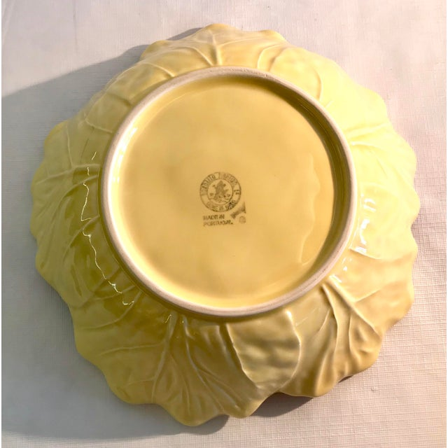 Mid 20th Century 20th Century Cottage Majolica Yellow Cabbage Serving Bowl For Sale - Image 5 of 8