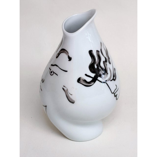 Mid-Century Modern Jean Cocteau for Classic Rose Rosenthal Group Vase For Sale - Image 3 of 11