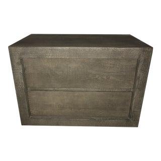 Reclaimed Russian Oak Side Table For Sale