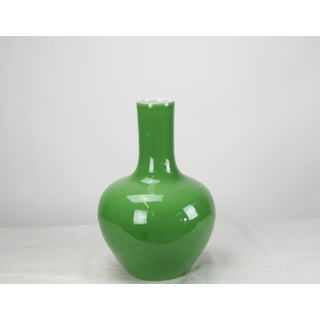 Asian Modern Light Green Long Neck Porcelain Vase Preview