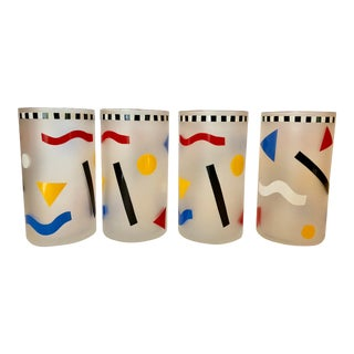 Memphis Style Drinking Glasses / 4