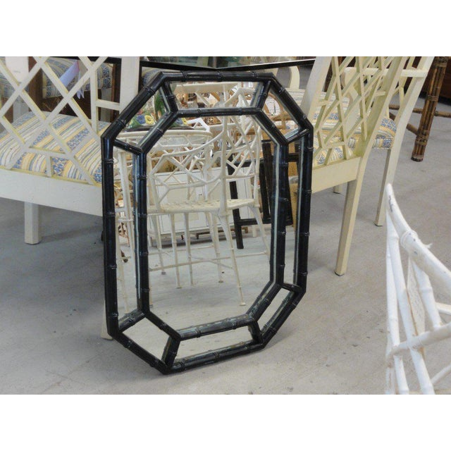 Faux Bamboo Octagon Mirror - Image 6 of 6