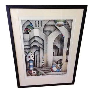 1986 Pier Augusto Breccia Lithograph Memories For Sale