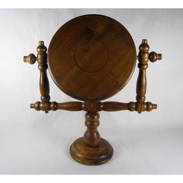 19th-C. French Gentleman's Barber Shop Shaving Mirror Stand - Image 4 of 8