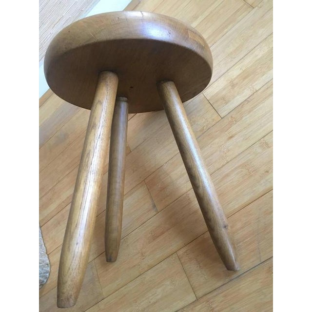 1950s Charlotte Perriand 1950s High Tripod Ash Tree Stool in Vintage Condition For Sale - Image 5 of 8