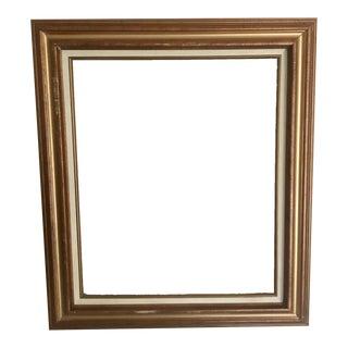 Linen Matted Vintage Gold Frame